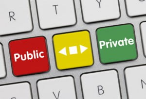 Public or private. keyboard